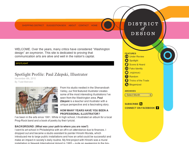 Paul Zdepski's interview on the District of Design blog