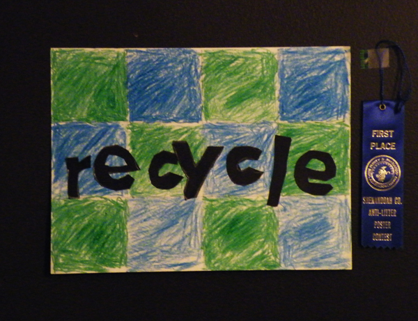Niki Zdepski's winning poster design for recycling