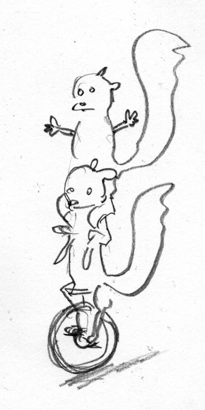Zdepski's 1st version of Squirrel on Squirrel action