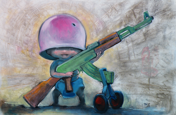 AKBaby painting by Paul Zdepski, 2008