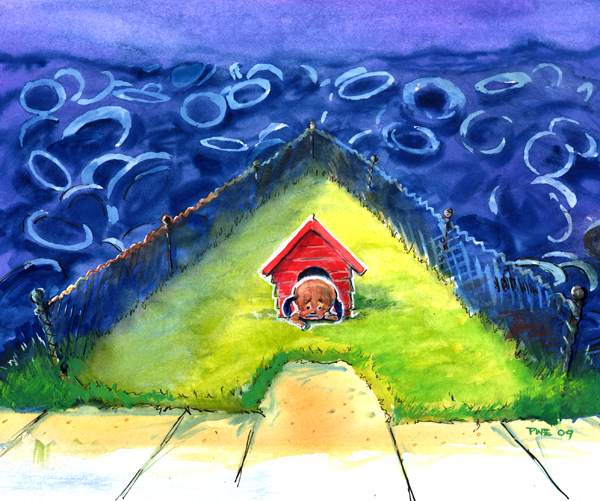 Zdepski's watercolor painting for A is for Ava, always alone