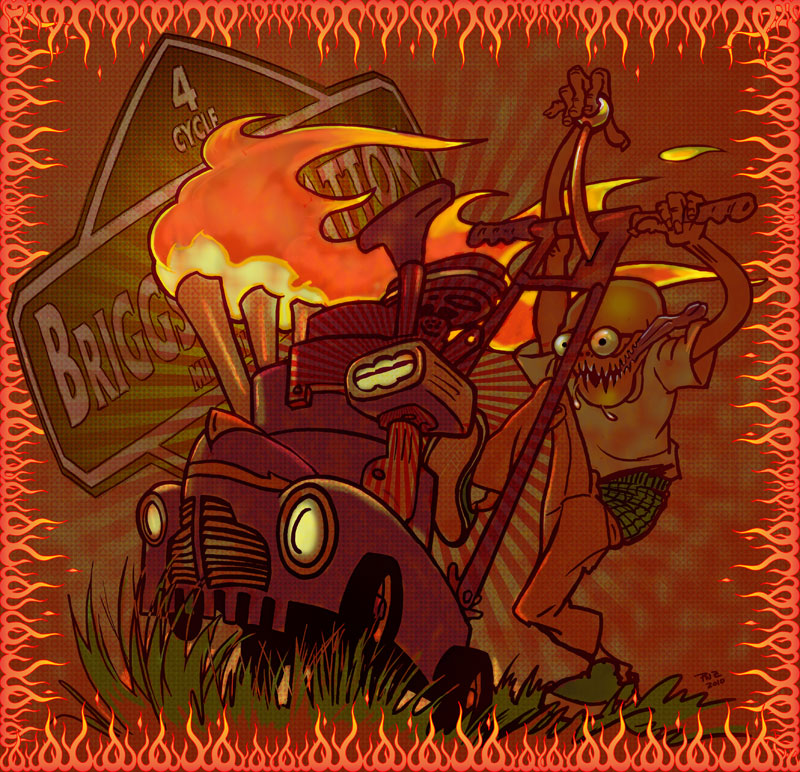 zdepski's digital illustration - CA mower