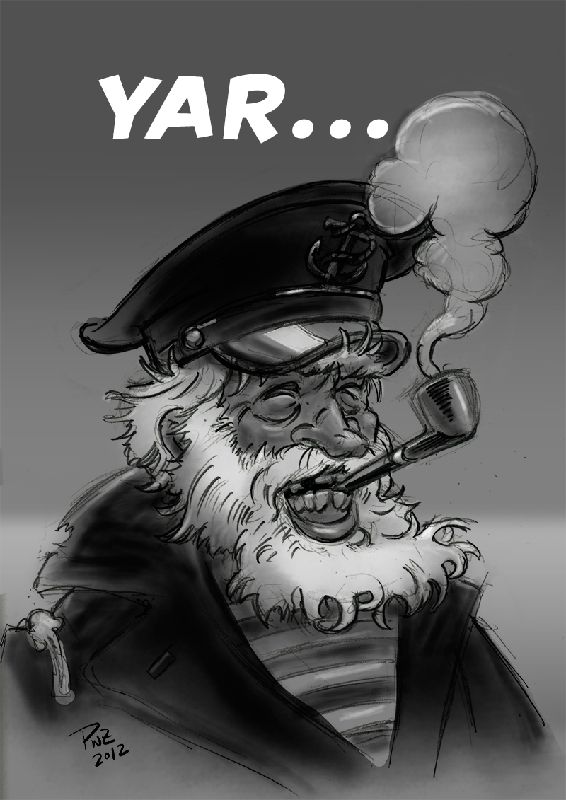 YAR... Captain Grinz illustration by Paul Zdepski