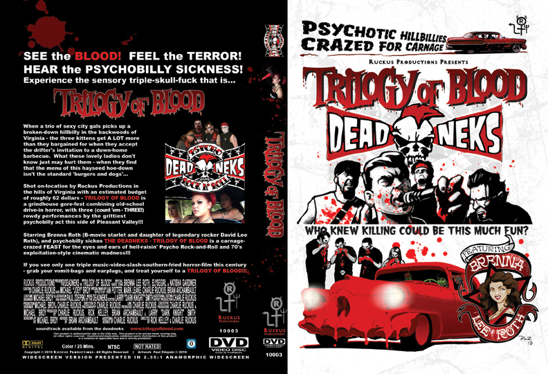 zdepski's final layout for the Deadneks DVD box