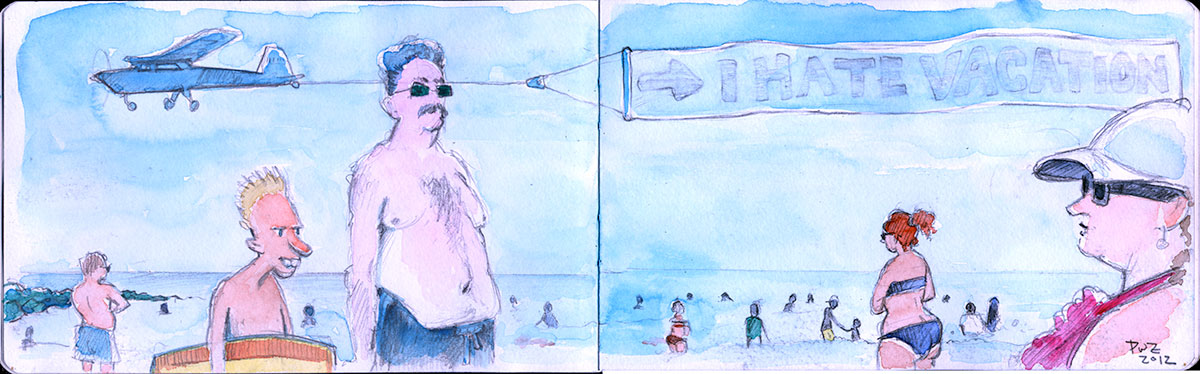 Zdepski's Illustration, I hate vacation - Ocean City, NJ