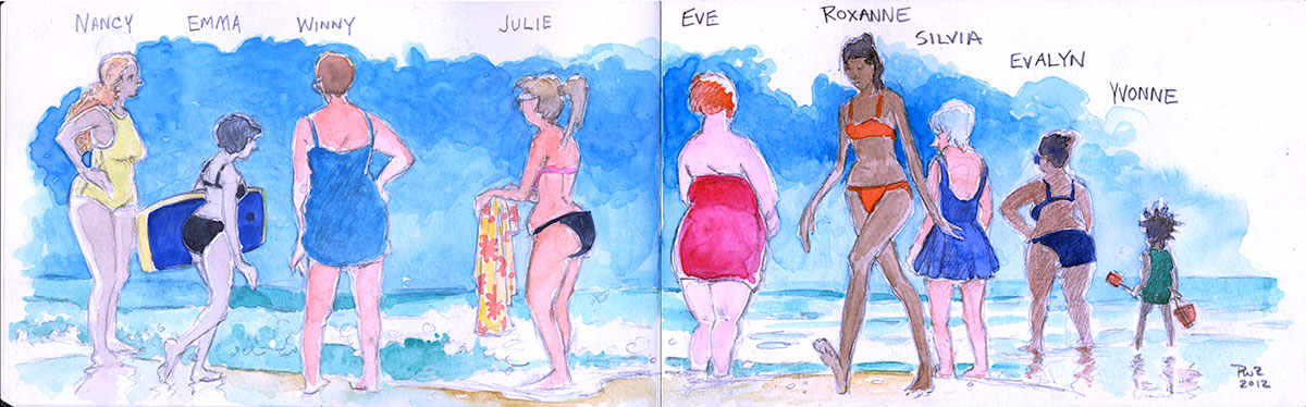 Zdepski's Illustration, New Jersey Girls - Ocean City, NJ