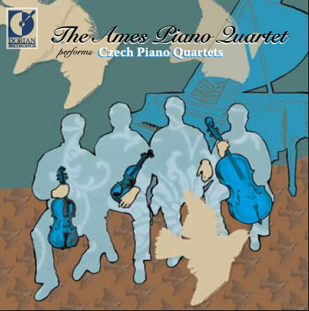 zdepski's illustration of the Ames Piano Quartet, Czech Piano Quartets, 2005