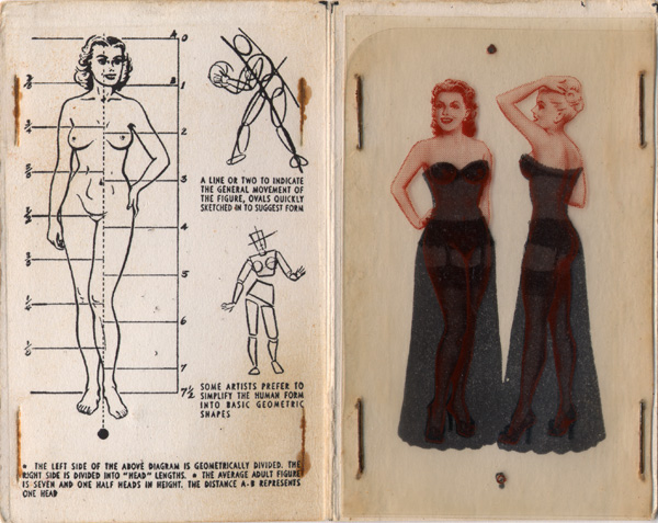 Drawing Tips Booklet Showing Model Proportions and Models in Gowns