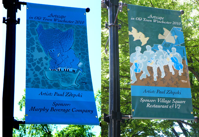 zdepski's photo of a his designs on banners in Winchester VA