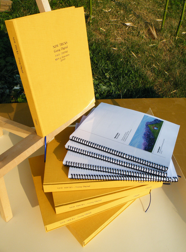 Zdepski's Master of Fine Arts in Illustration Thesis bound copies