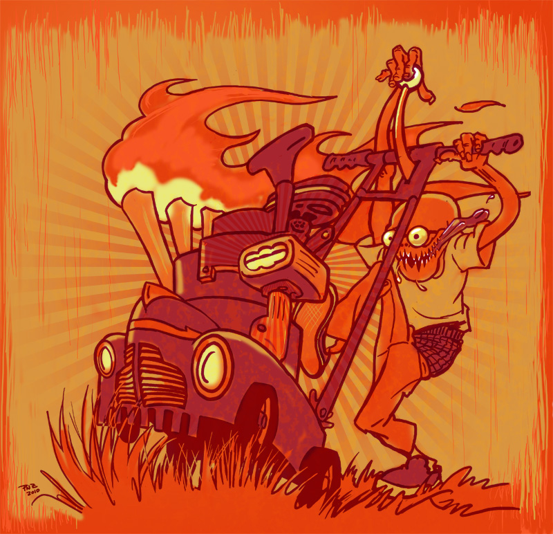 Zdepski's digital illustration, CaliMower - Tribute to Big Daddy Roth