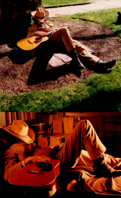 Zdepski's photo session pictures for Sleeping Cowboy, 1998