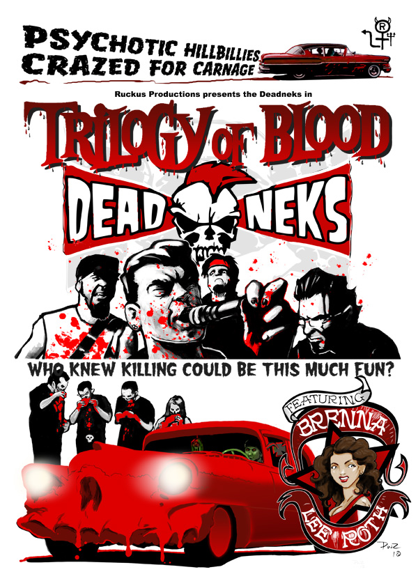 zdepski's illustration and design fro the Deadneks Trilogy of Blood