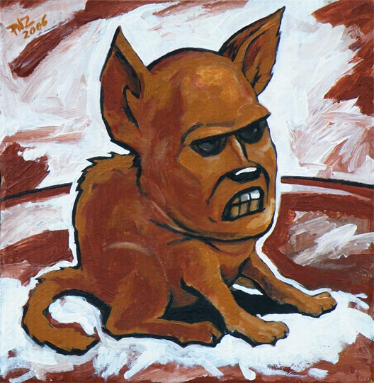 dogMan, the first painting in the series