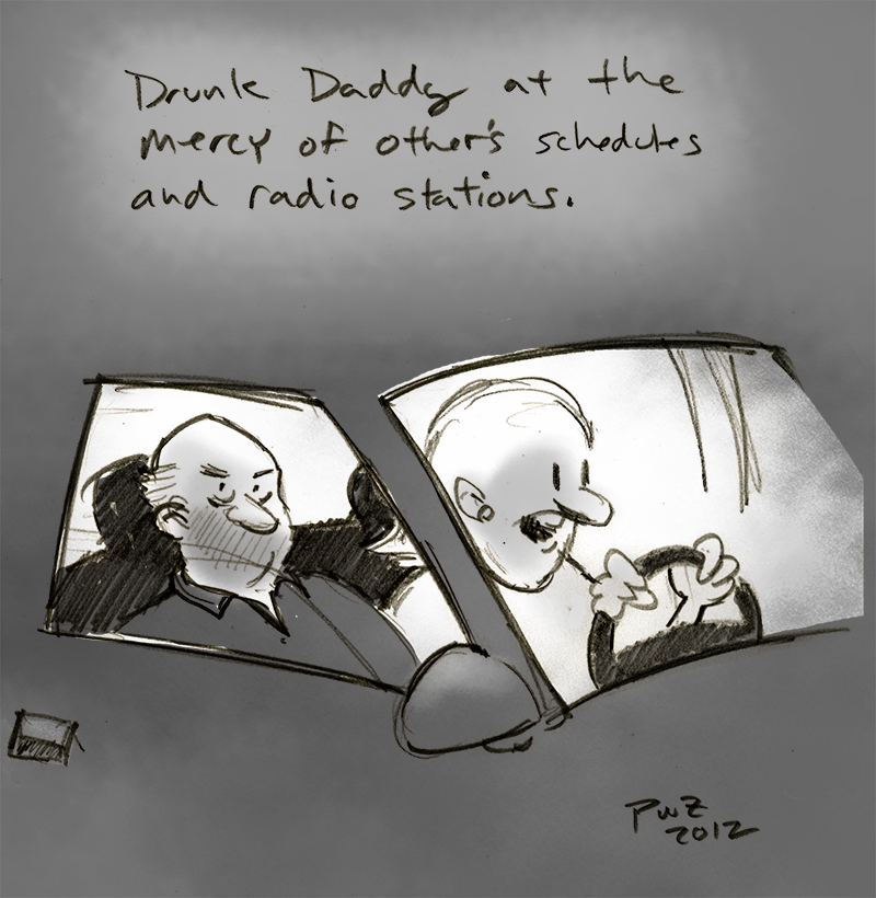 zdepski's illustration, Drunk Daddy