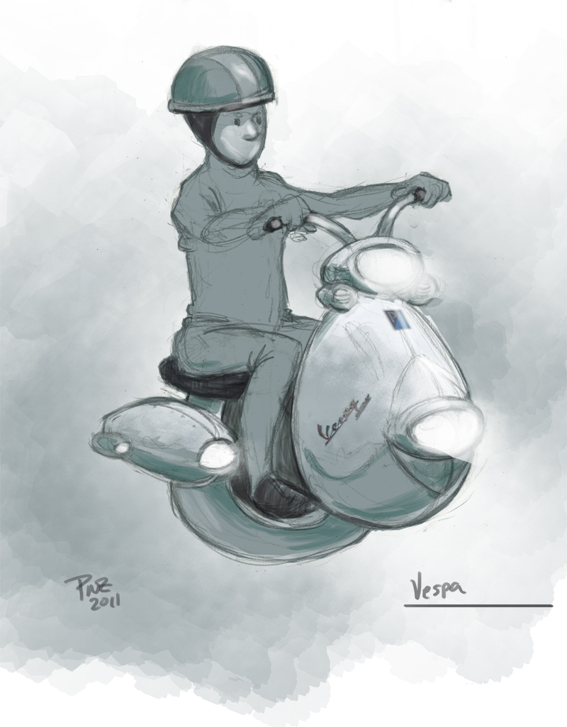 zdepski's illustration of a Hover Vespa cycle