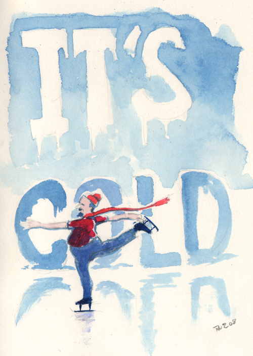 zdepski's watercolor painting called it's cold