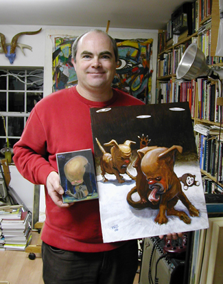 John Bracken holds his pound puppies