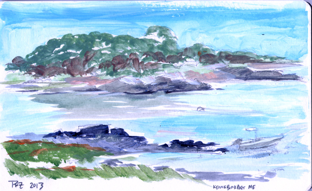Zdepski's acrylic painting Low Tide - Kennebunkport Maine