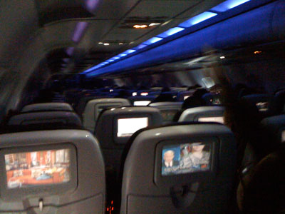 zdepski's photo of the cabin interior of Virgin America flight