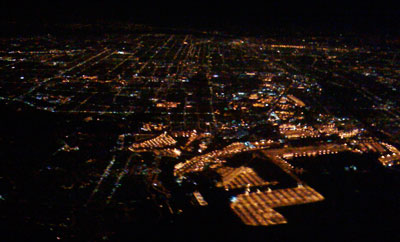 zdepski's photo of Los Angeles from the air at night