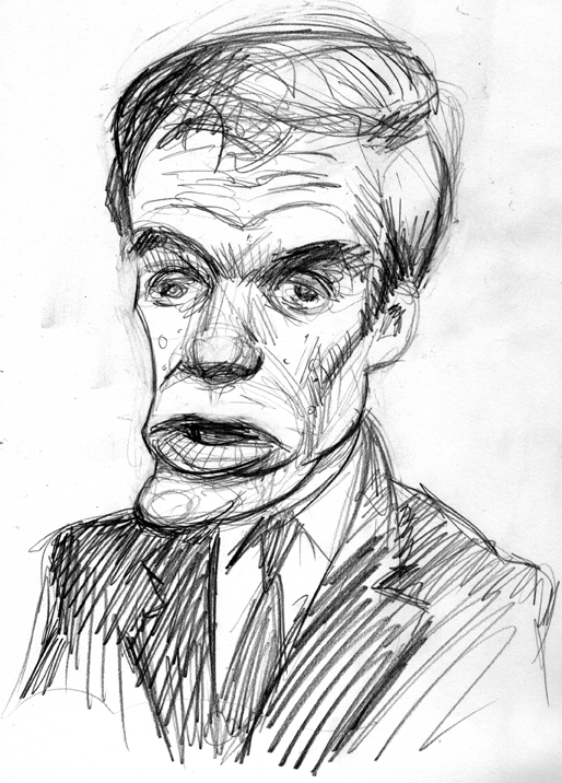 Zdepski's sketch of Mark Warner, former governor of Virginia and Senate candidate