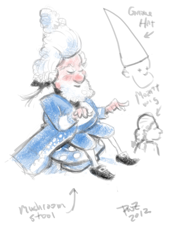 zdepski's illustration of Mozart Gnome