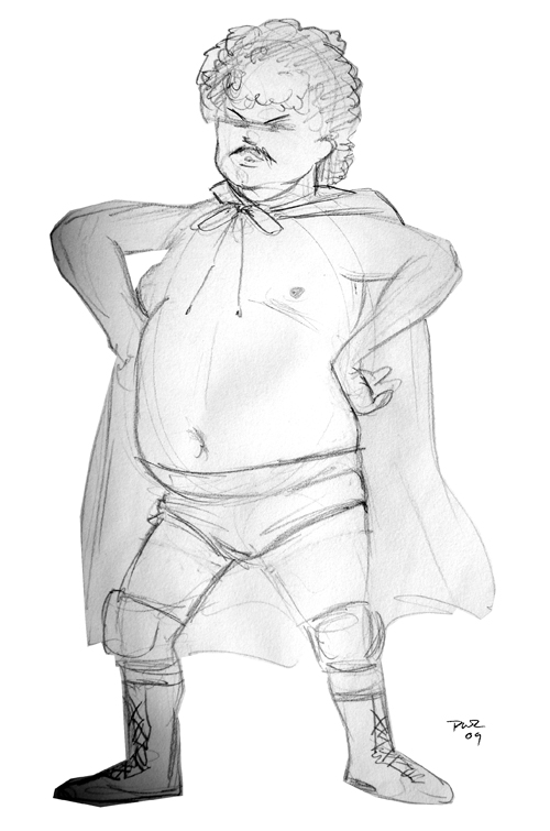 zdepski's tv sketch of jack black as nacho libre