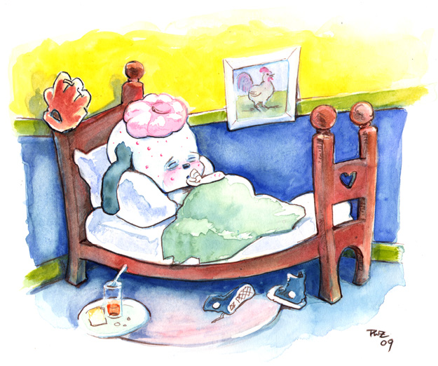 zdepski's watercolor of chickenpox