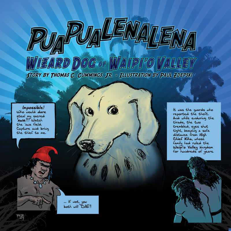 zdepski's page one of Puapualenalena, Wizard Dog of Waipi'o Valley