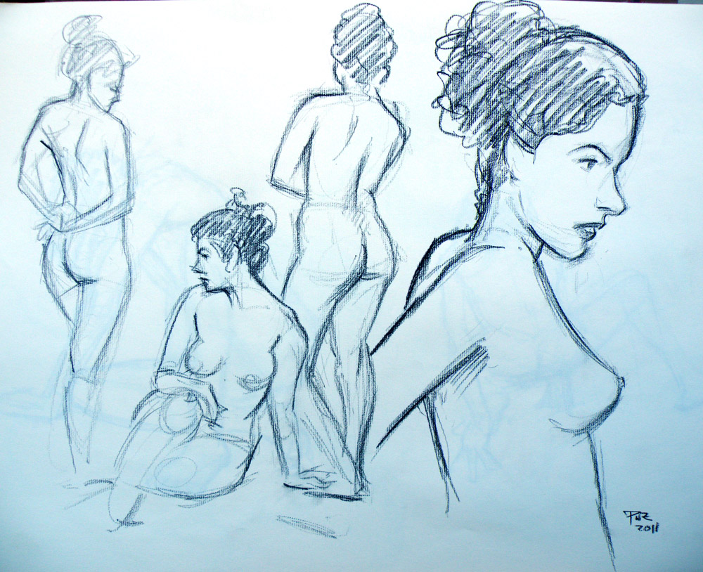 Rockville Nude Figure Marathon, Drawings of Maria 5 - Paul Zdepski