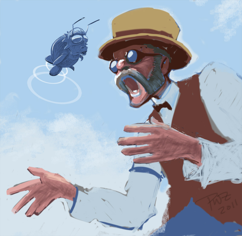 Shocked Doc illustration by Paul Zdepski