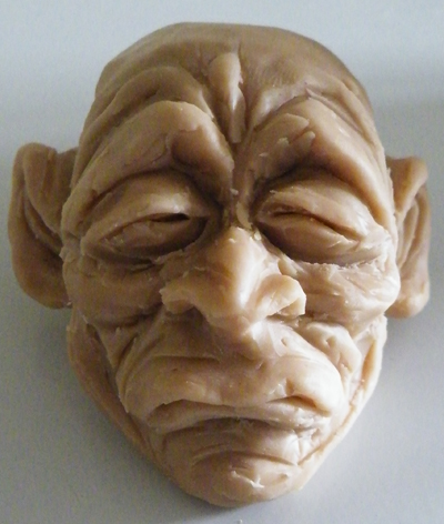 zdepski's sculpture of shrunken head number 3