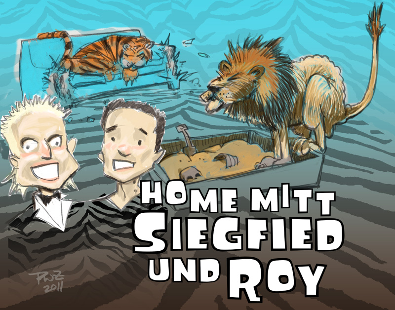zdepski's illustration - Home mitt Siegfried und Roy