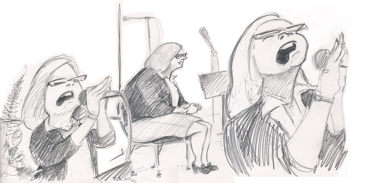 Zdepski's Church Lady drawing - Sing Rest Sing