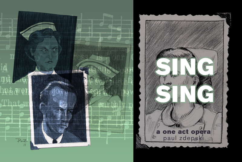 paul zdepski's cover illustration for the booklet Sing Sing