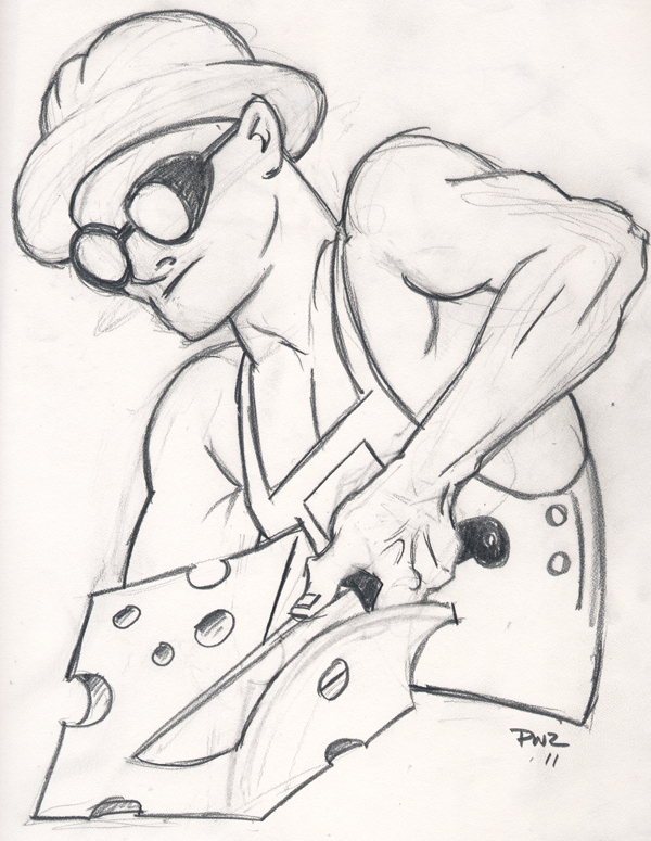 Zdepski's line drawing - Steel Cheese