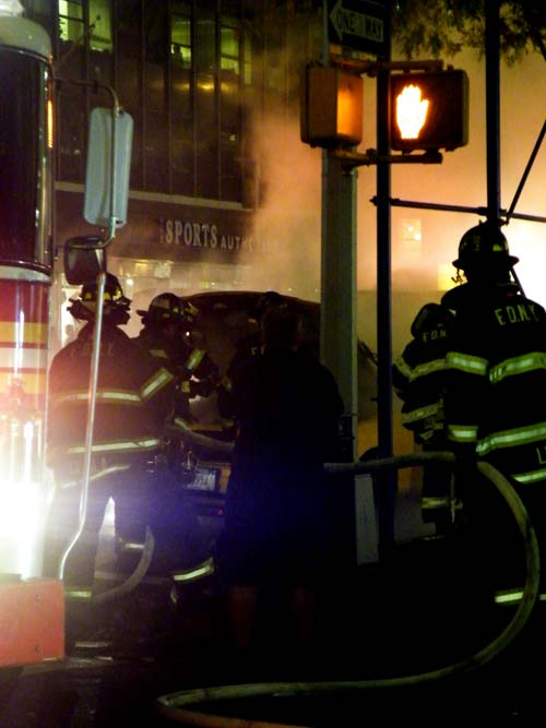 Zdepski's photo of NY FFs putting out a taxi fire