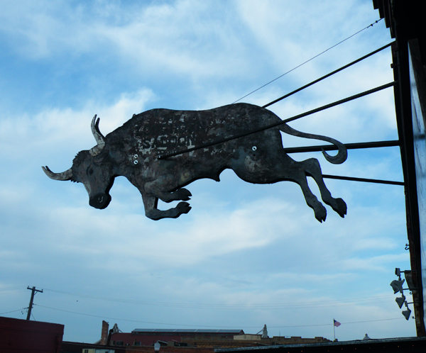 zdepski's photo of a longhorn steer sign