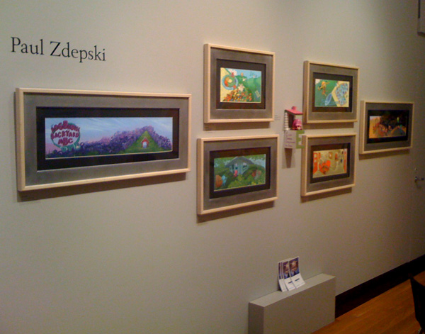 Zdepski's thesis hanging at the Joeseloff Gallery in Hartford CT