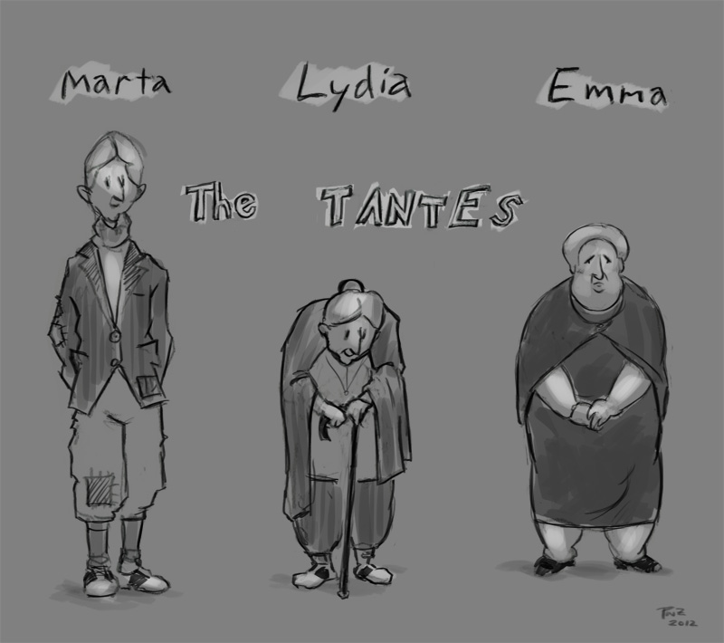 zdepski's character studies of his great aunts, the tantes