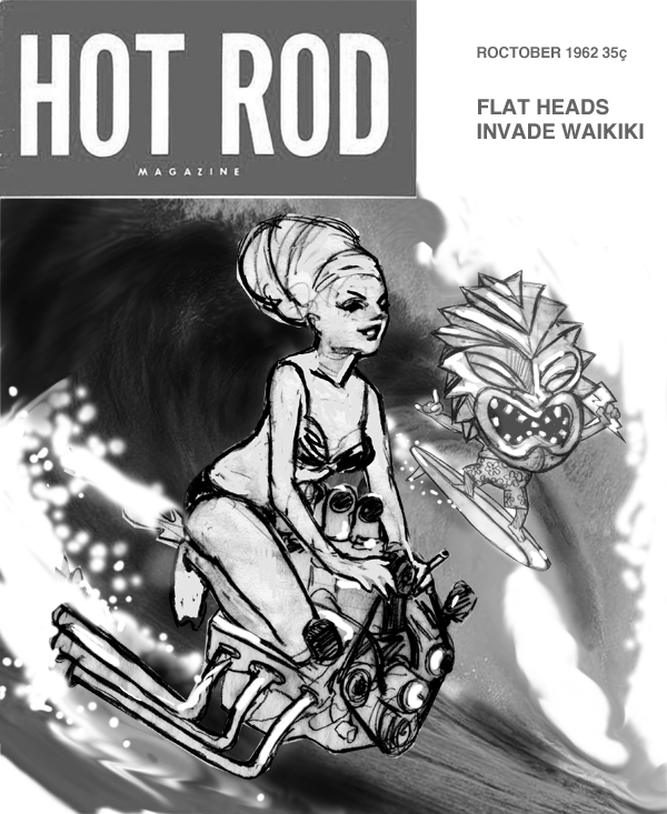 zdepski's version of HOT Rod Magazine, Cover, 1962