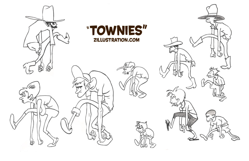 zdepski's line drawings of Townies