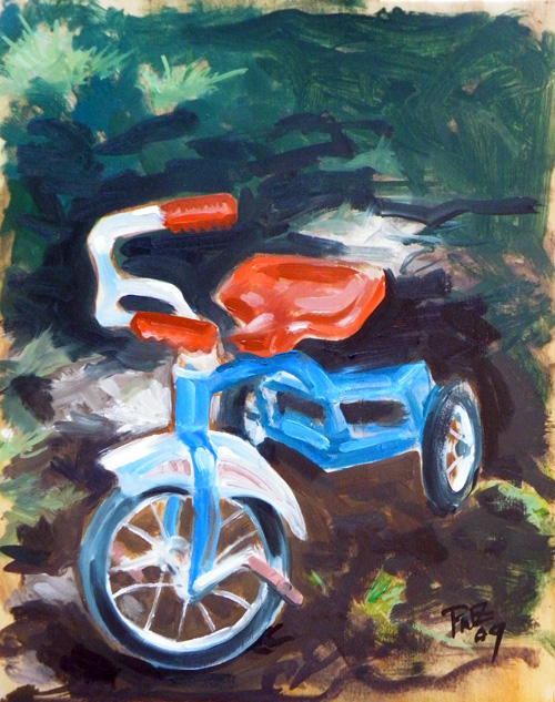 zdepski's painting of a tricycle